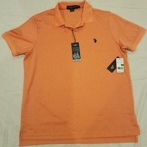 New W/ Tags Polo Collared Orange T-shirt Largr